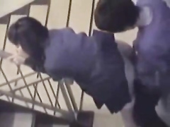 Amateur Asian girl banged in a stairwell