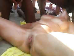 Swinger party on the sunny beach