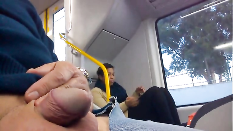 Dude with his little dick out on the train
