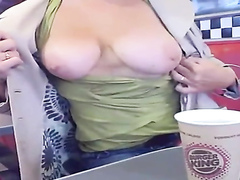 She is showing her massive boobs