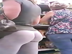 Fantastically hot amateur ass at the grocery store