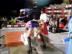 Hot accidental upskirt on a Japanese TV show