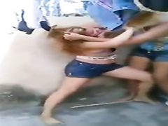 This street fight uncovered some breasts