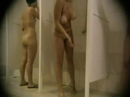 Public shower cam with so many naked women