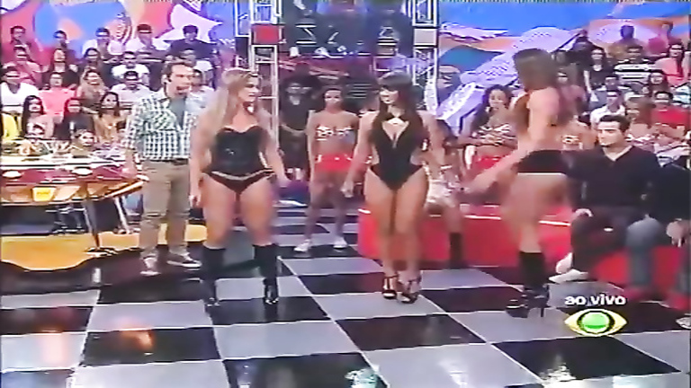 Hot Latin asses on a television talk show