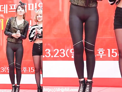 Korean singer with a nice cameltoe