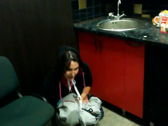 Teen babe has a funny pissing technique