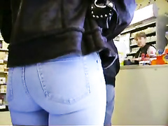 Hot bubble butt in jeans