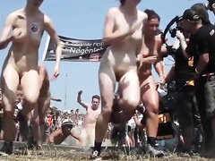 Take a look at this crazy nude marathon