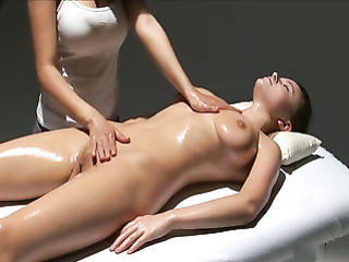Lesbian happy ending massage for a beautiful doll