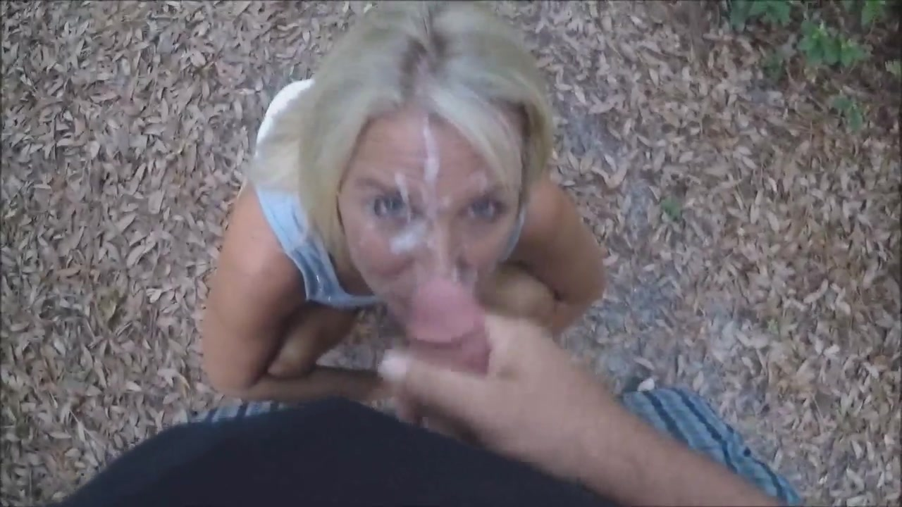 Mature hotwife shower facial