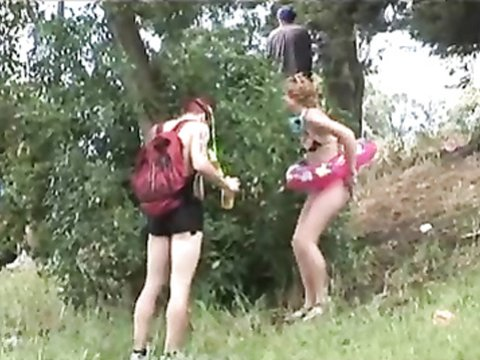 Public pissing compilation of festival goers