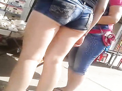 Hottest denim shorts ever on that fine ass