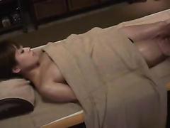 Adorable Asian girl ejaculates in a sensual therapy