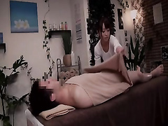 Nice handjobs from an Asian hottie in the massage parlor
