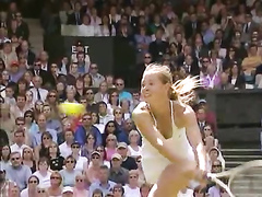 Maria Sharapova downblouse during a tennis match
