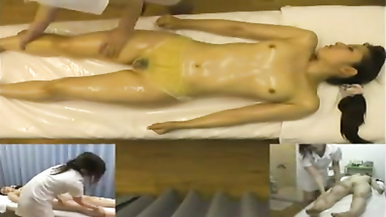 Erotic oil massage for a Japanese cutie
