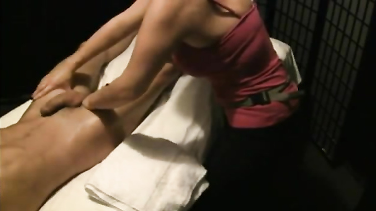 client gets his ass filled by black masseuse cock
