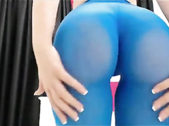 Webcam girl with a bubble butt knows how to tease