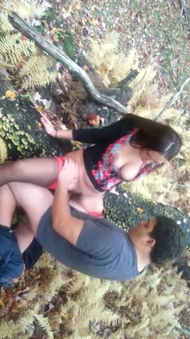 Sex in the woods with a college girl in spandex