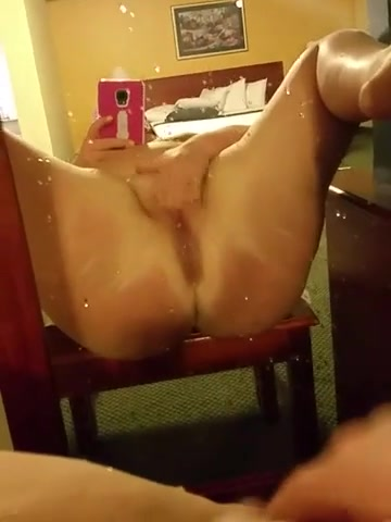 Squirting all over the hotel room floor