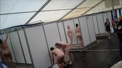 Charming ladies showering for the hidden camera