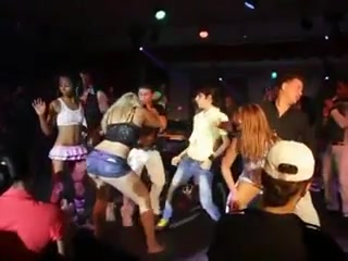 Naughty dancing on stage at the night club