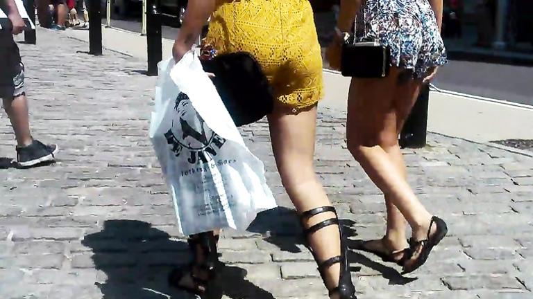 I took a peek under her skirt