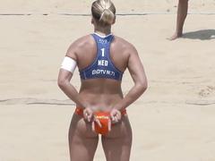 Magnificent bottoms of the volleyball babes