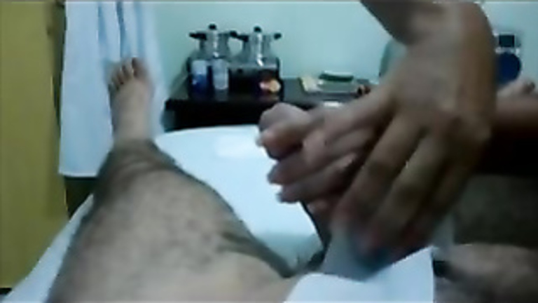 Aroused guy creamy wanking