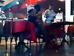 Cowgirl fun in the restaurant