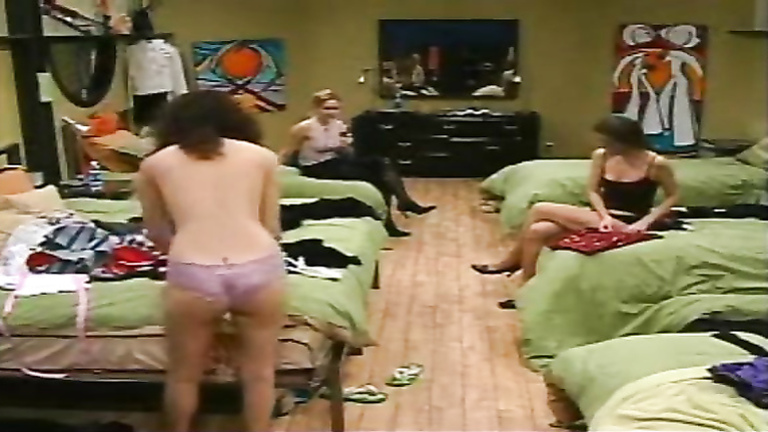 Participants change clothes in the Canadian reality TV show