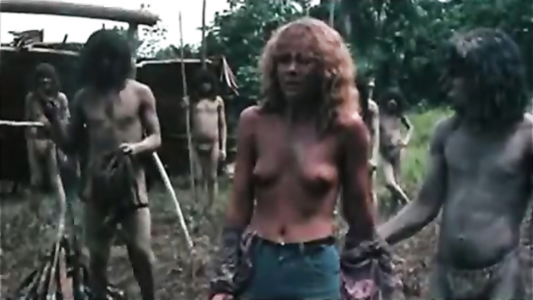 Torturing the female breasts in the jungle