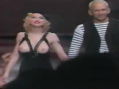 Madonna reveals her gorgeous tits