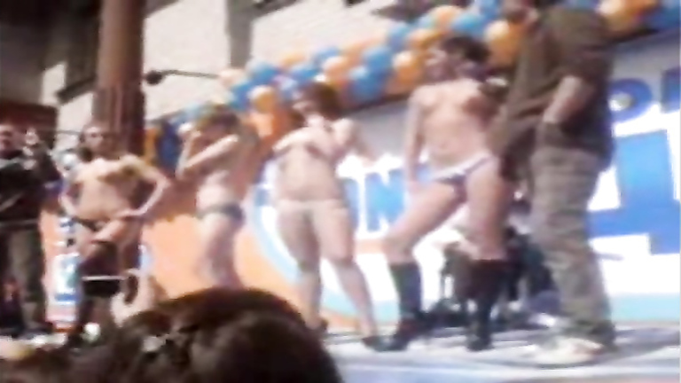 Topless dance contest with ladies competing for prizes