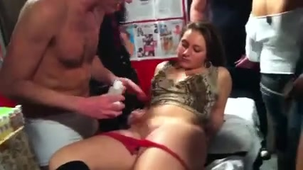 Checking out her shaved bawdy cleft