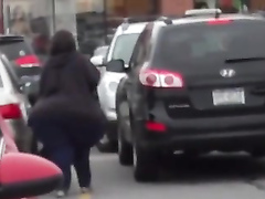 Woman with huge ass filmed on the street by random guy