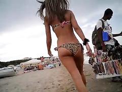 Fine body in a leopard print bikini