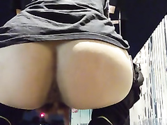 Public finger banging excites this big ass amateur