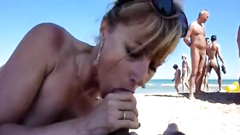 in cock public beach Women sucking