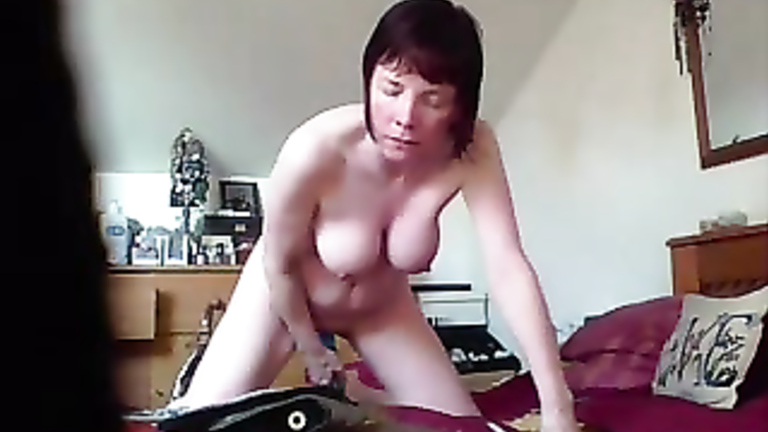 Masterbating with large dildos can recommend