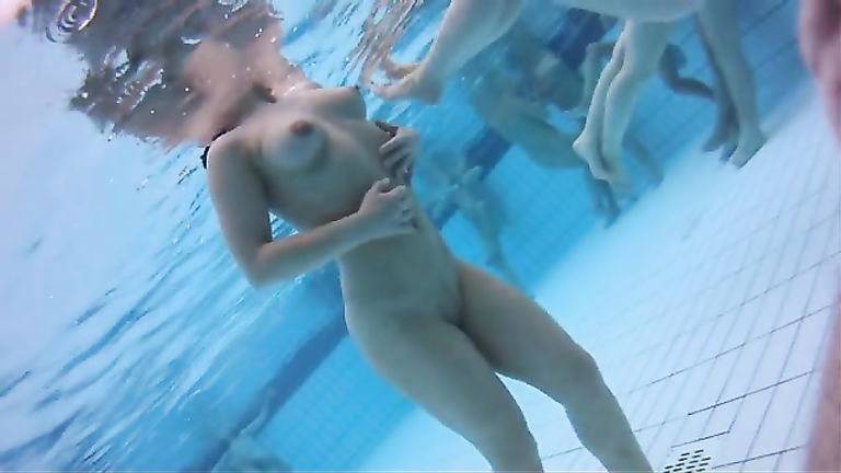 the pool nude women at Amateur