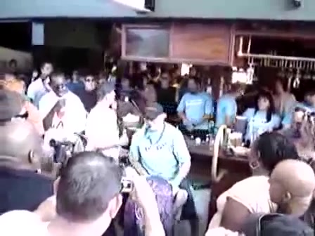 Bartender flips a girl and the crowd goes wild